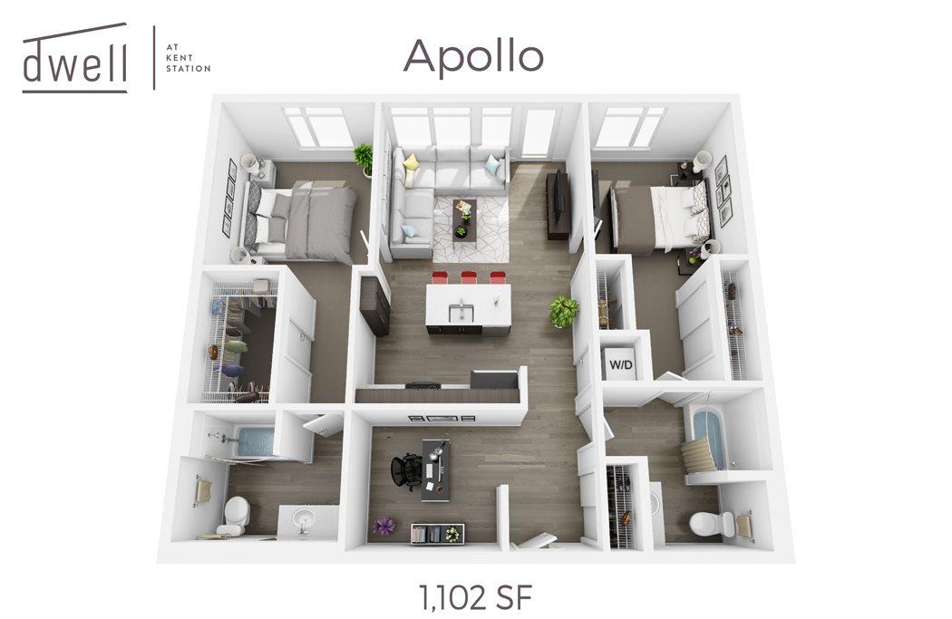 Apollo Two Bedroom Two Bath