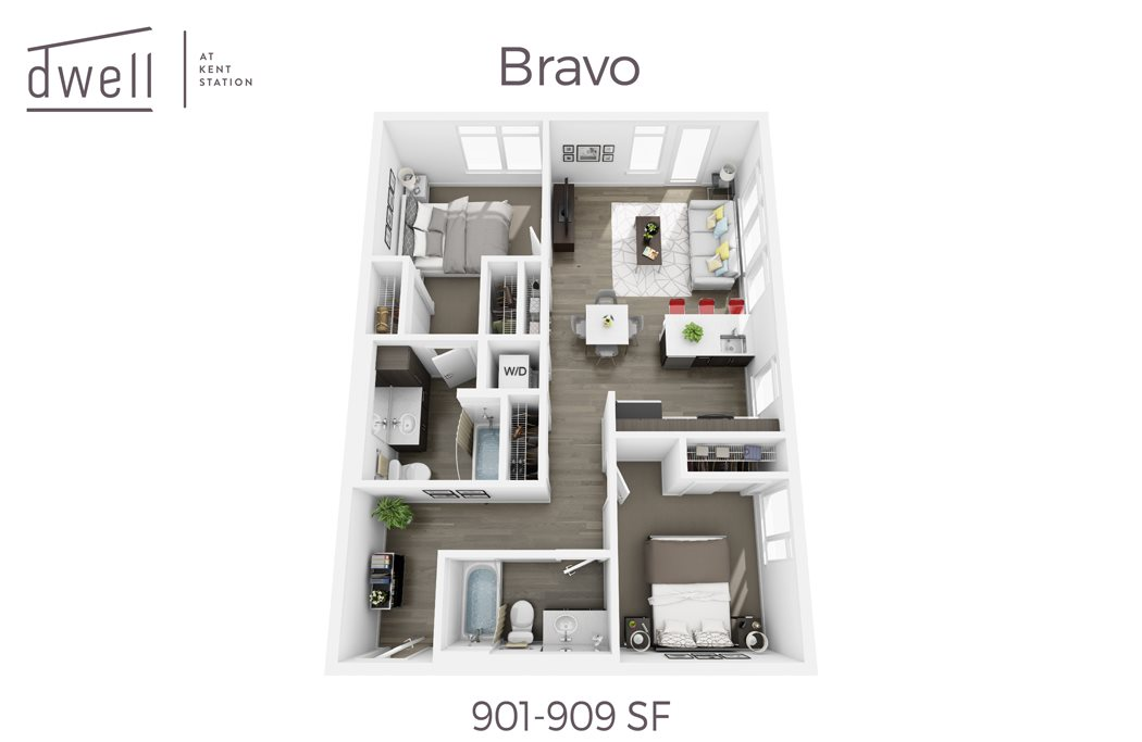 Bravo Two Bedroom Two Bath