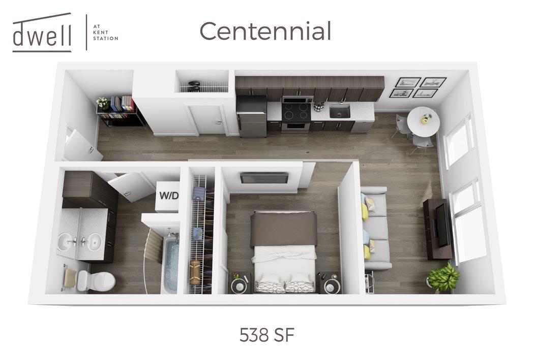Centennial Open Floor Plan One Bedroom One Bath