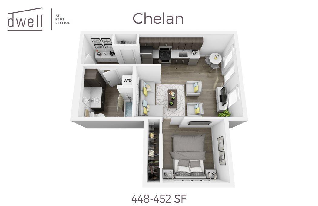 Chelan Open Floorplan One Bedroom One Bath