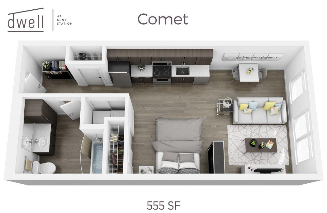 Comet Open Studio Floorplan