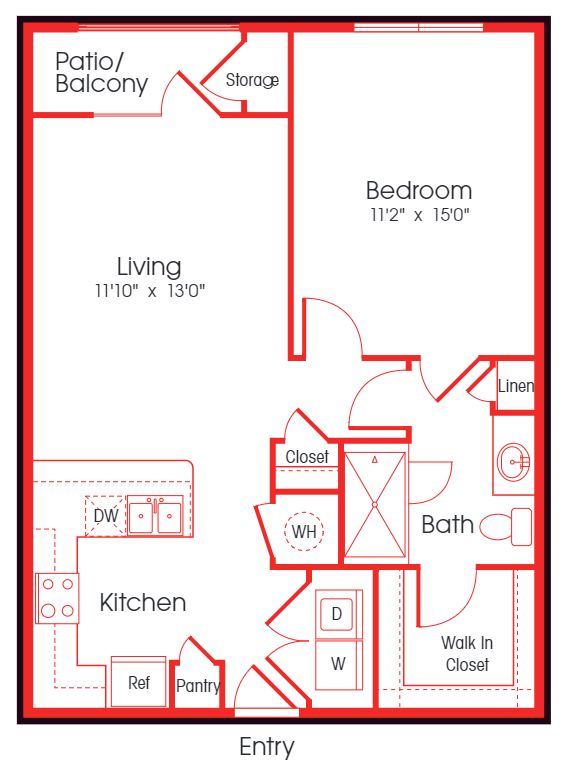 Floor Plan at Carillon Apartments, Nashville, TN, 37219