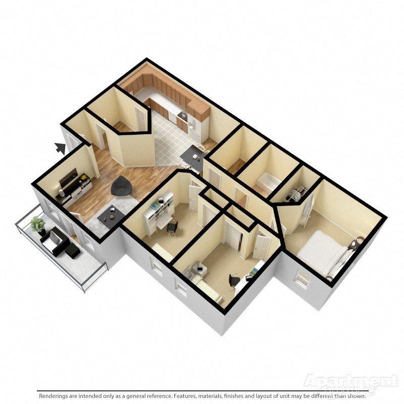 3 BED Floor Plan 2