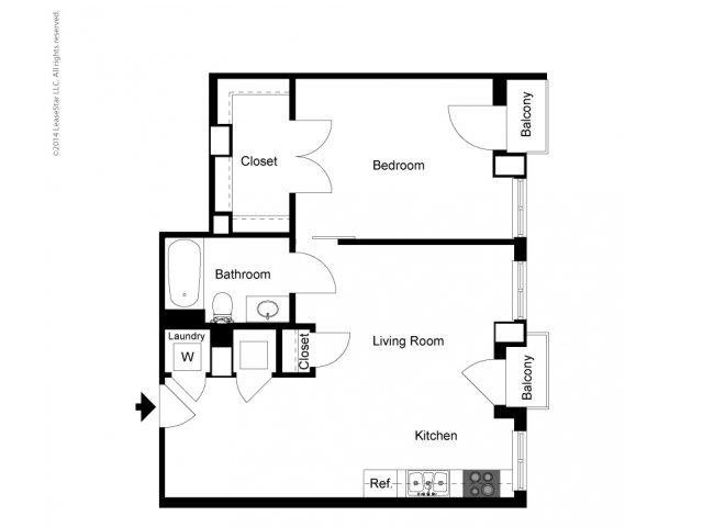 1 Bedroom A Floor Plan