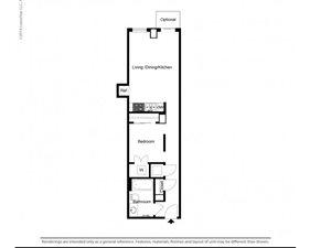 1 Bedroom Alcove B Floor Plan