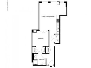 1 Bedroom B Floor Plan