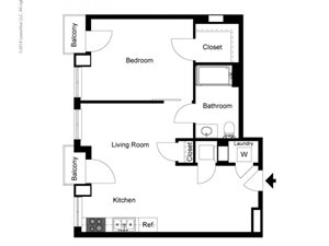 1 Bedroom C Floor Plan