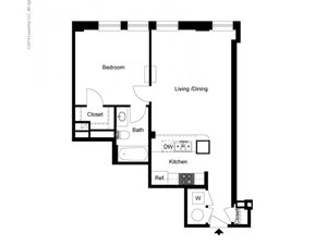 1 Bedroom Historic Building A Floor Plan
