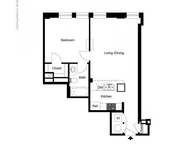 1 Bedroom Historic Building A Floor Plan