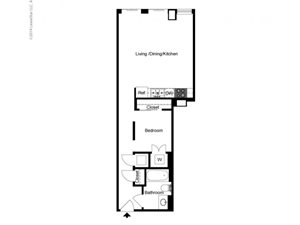 Alcove 1 Bedroom A Floor Plan