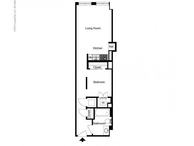 Alcove 1 Bedroom B Floor Plan