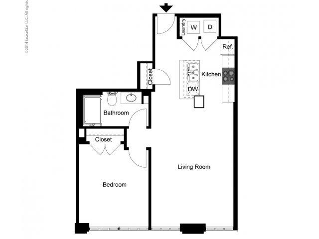 Historic 1 Bedroom A Floor Plan