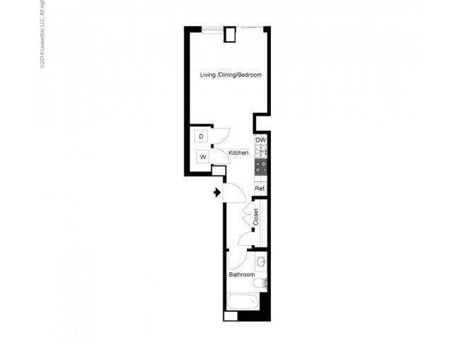 Studio B Floor Plan