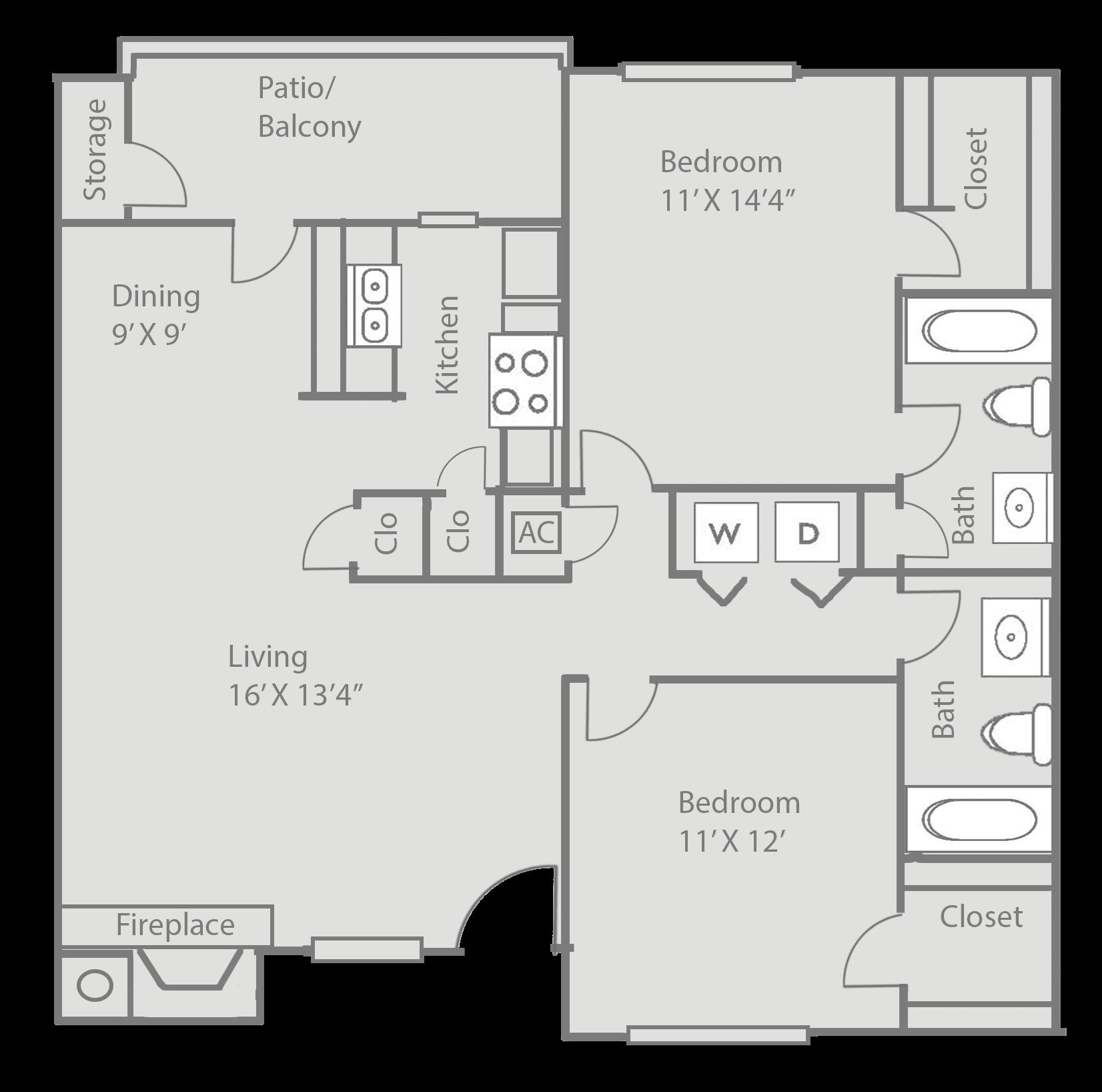 Floor Plans Of Ridgecrest Apartments In Denton, TX