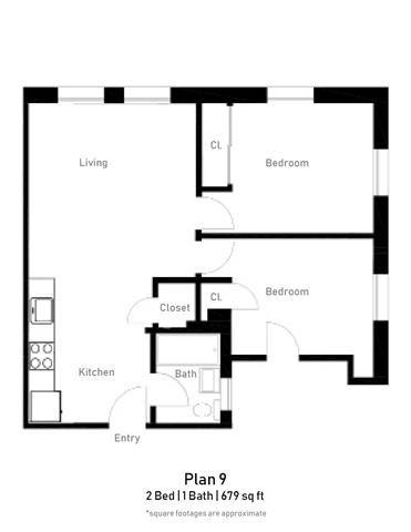 2 Bedroom - Plan 9