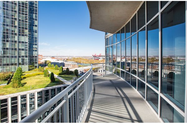 Apartment views at SoBro located in downtown Nashville
