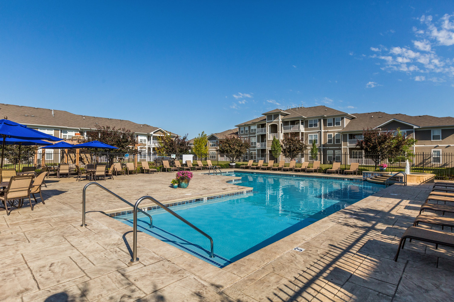 Poolside Sundeck and Grilling Area at Maple Knoll Apartments, Indiana, 46074