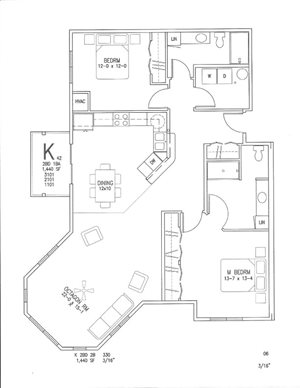 K + Octagon | 2 Bed, 2 Bath
