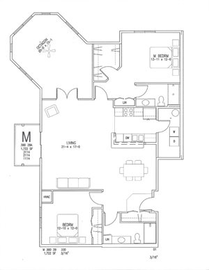 M + Octagon | 3 Bed, 2 Bath