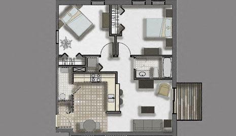 Woodlawn Terrace   2 Bed, 1 Bath
