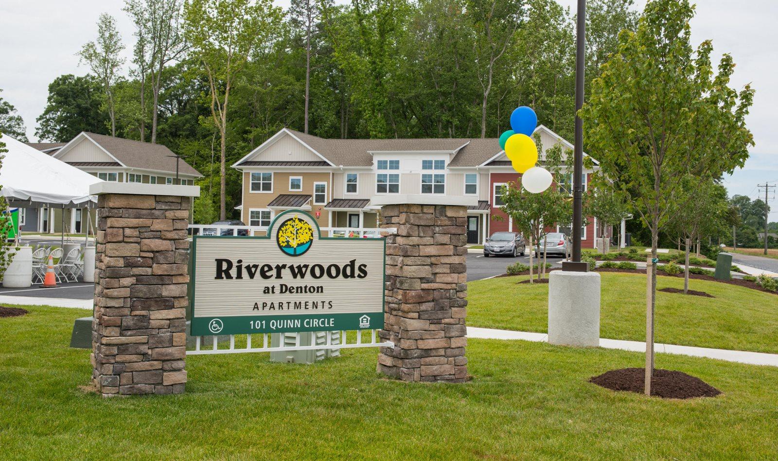 Riverwoods at Denton Apartment Community Entrance