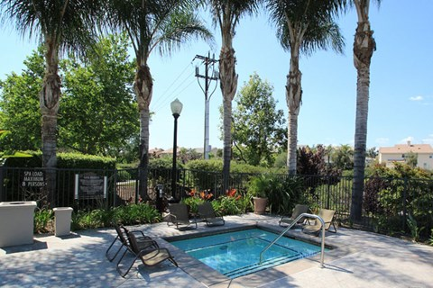 Lounging by the Pool at Missions at Chino Hills, California, 91709