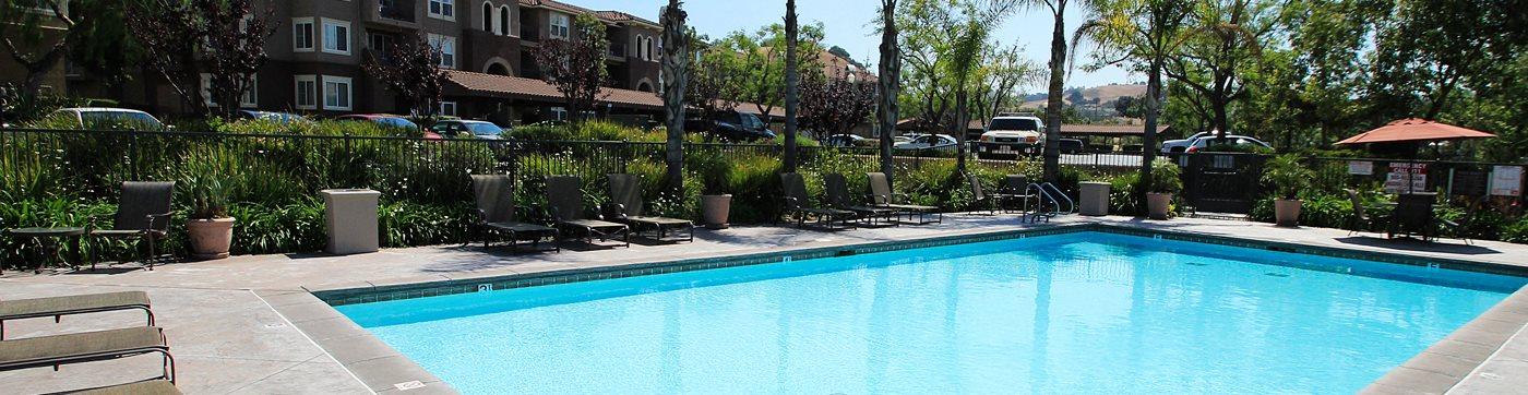 Crystal Clear Swimming Pool at Missions at Chino Hills, California