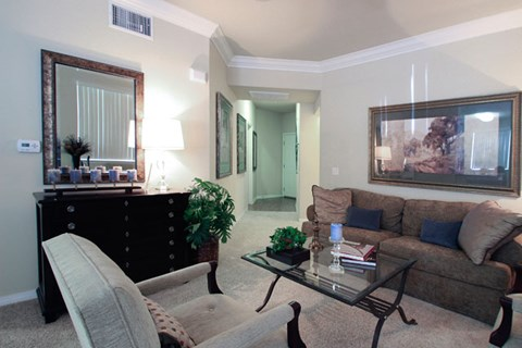 Contemporary Living Room at Missions at Chino Hills, California