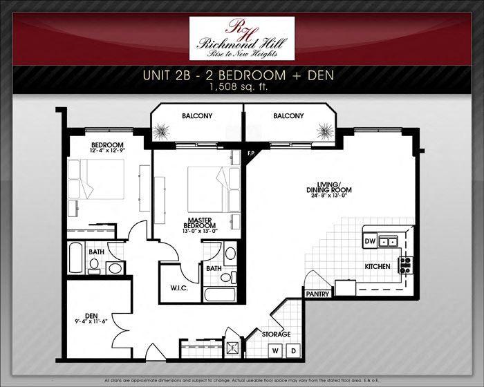 2 Bedroom + Den A