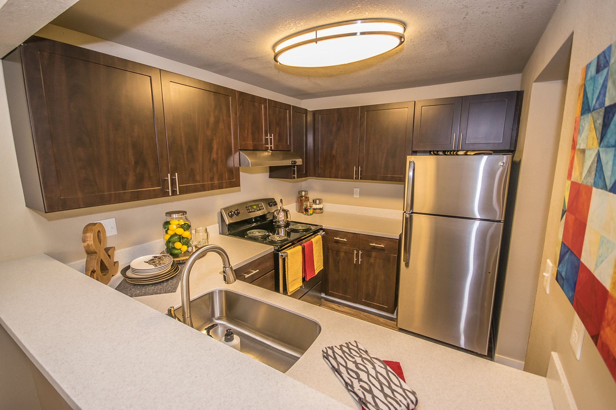 Stainless Steel Appliances at The Fairways Apartments, Tacoma, WA,98422