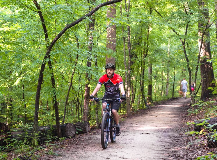 Biking trails at Walton at Columns Drive, Marietta