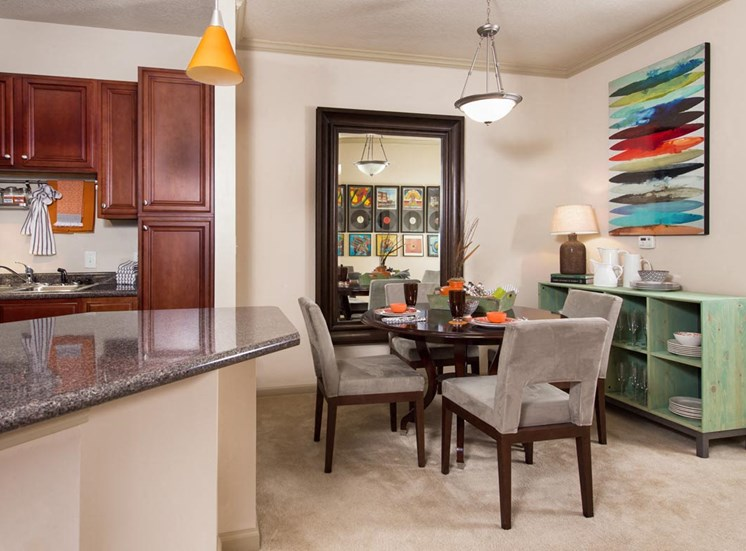Walton Lakes Model Apartment Dining Area, Atlanta, GA