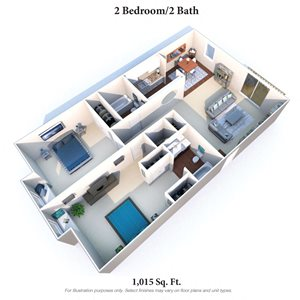 2 Bedrooms, 2 Baths