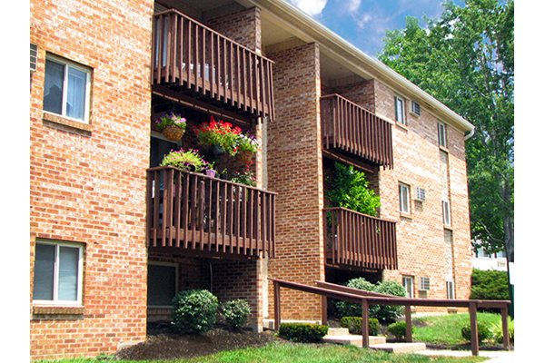 Patios and balconies at Hunter Ridge Apartments in Cincinnati, OH