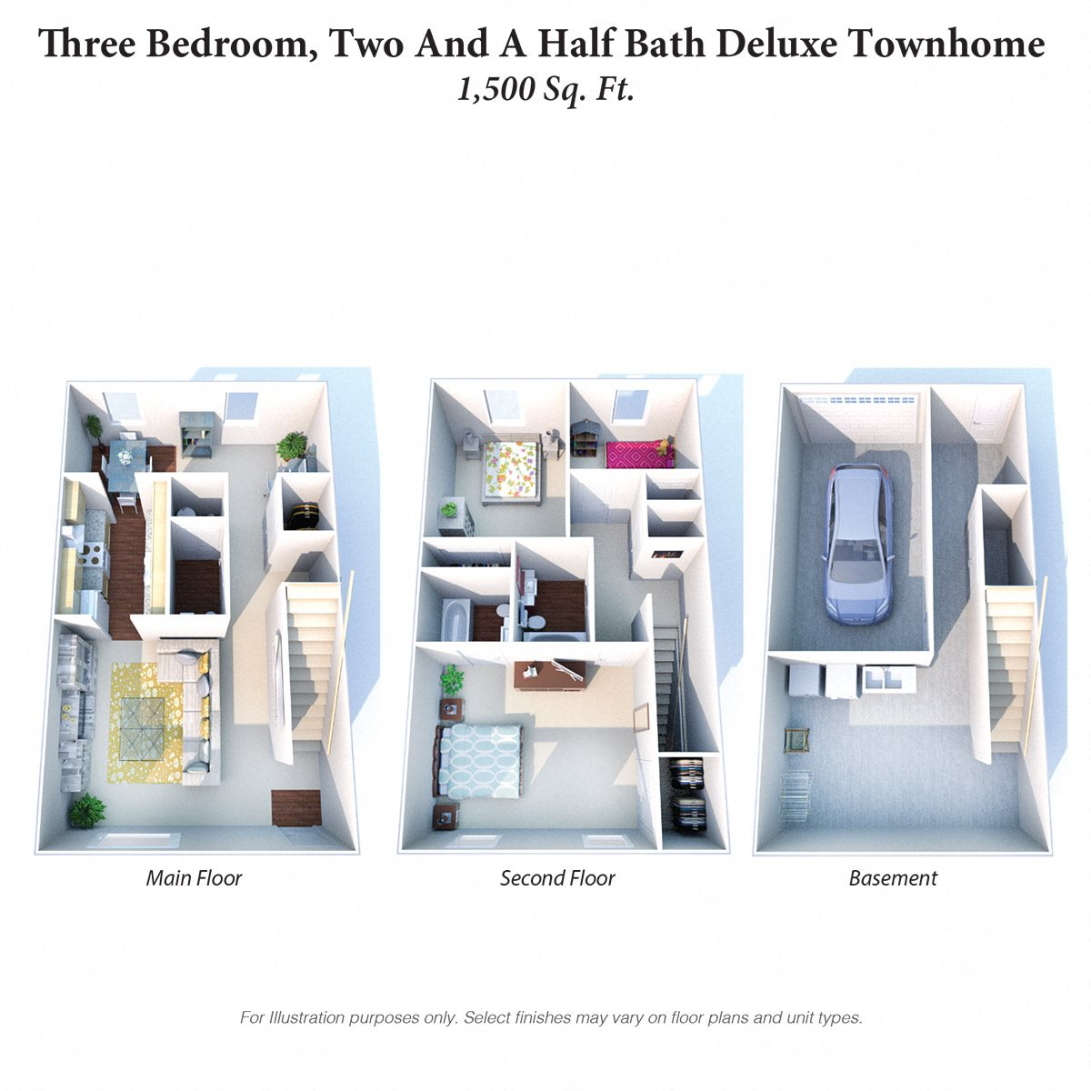 Three Bedroom TH Deluxe Floor Plan 10