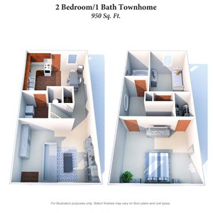 2 Bedroom Townhouse