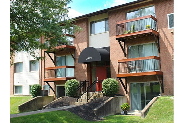 Patios and balconies at Fox Run Apartments in Blue Ash, OH