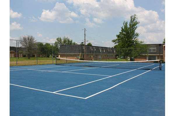 One of Two Tennis Courts at Forest Park Apartments in Forest Park, Ohio
