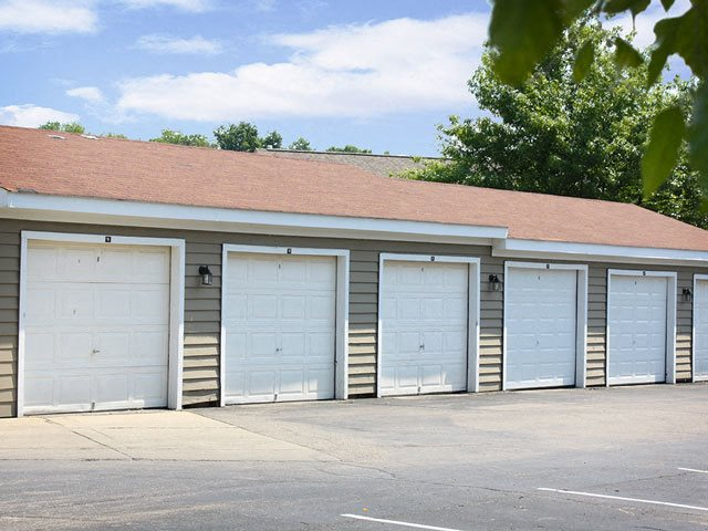 Off-street, garage parking for residents, Steeplechase Apartments, Ohio, 45140