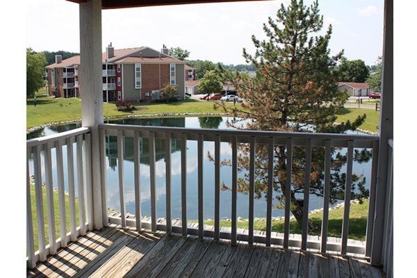 Attached balcony or patio with each unit at Steeplechase Apartments, Loveland, OH, 45140