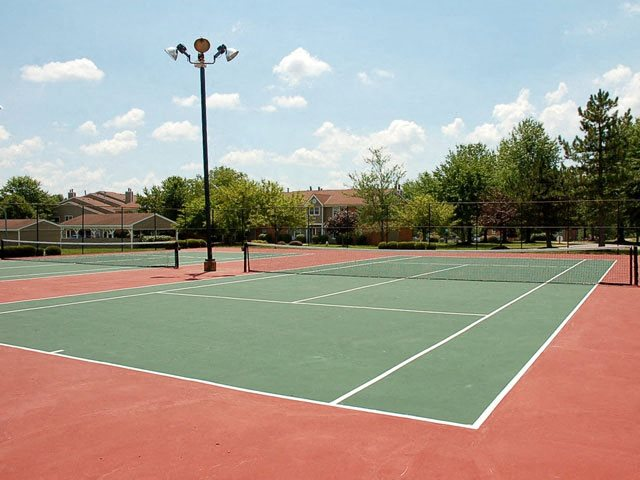 Outdoor, lighted tennis courts, Ohio, 45140