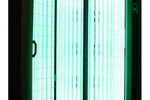 Standing tanning bed at Timber Ridge Apartments in Cincinnati, OH