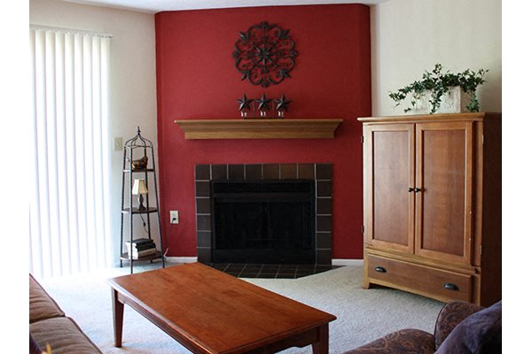 Optional fireplace at Deercross in Blue Ash, OH