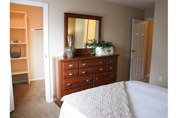 Large walk in closets at Deercross in Blue Ash, OH