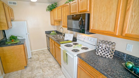 Kitchen in affordable apartments near CIty Center in Newport News