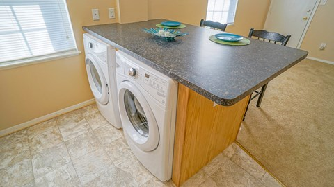 Washer and Dryer at the Mariners Green Apartments in Newport News VA