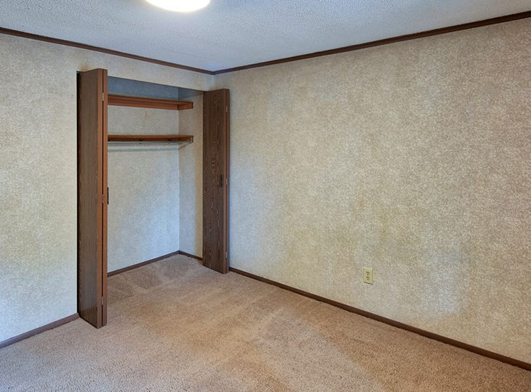 Closet at affordable apartments near Ft Eustis