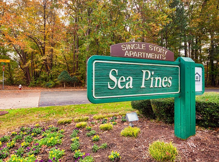 Sign at Sea Pines in Newport News, Virginia
