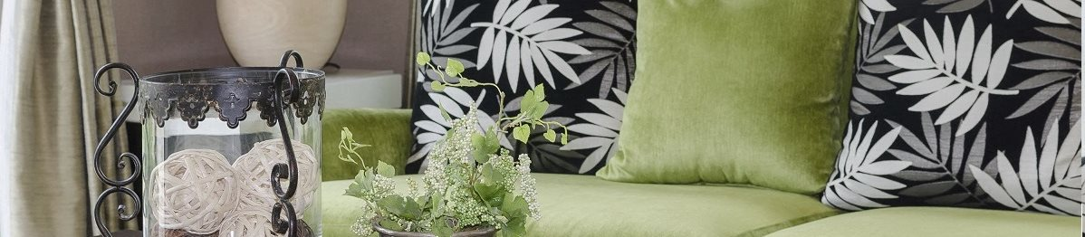 green sofa and pillows 2