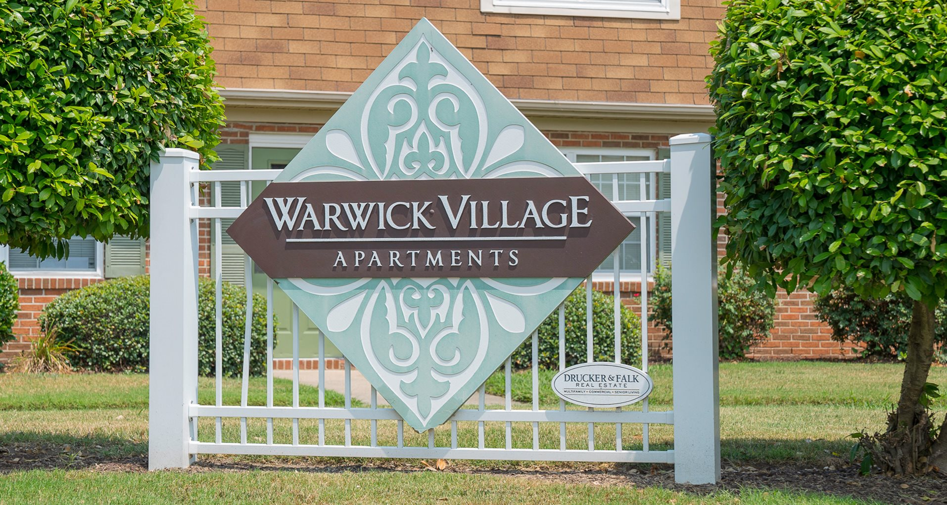 Sign at Warwick Villages Apartments in Newport News VA